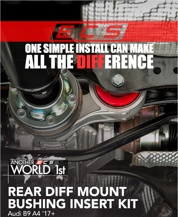 ECS Tuning :: NEW!! B9 A4 Rear Diff Mount Bushing Kit ** Video ... on audi a4 cooling system, audi a4 power steering fluid, audi a4 wheels, audi a4 gearbox, audi a4 engine, audi a4 air intake, audi a4 lift kit, audi a4 boost gauge, audi a4 turbocharger, audi a4 muffler, audi a4 firing order, audi a4 blow off valve, audi a4 undercarriage, audi a4 pcv valve, audi a4 timing belt, audi a4 center cap, audi a4 torque converter, audi a4 dashboard, audi a4 front suspension, audi a4 wiper arms,